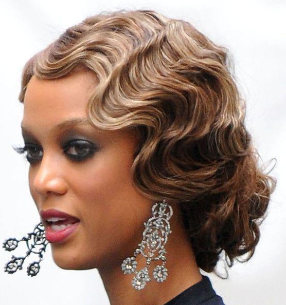 Finger Waves Wedding Hairstyle: Tyra Banks Retro Updo
