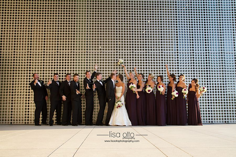 Wedding cake under the soaring staircase at Tampa Museum of Art ...