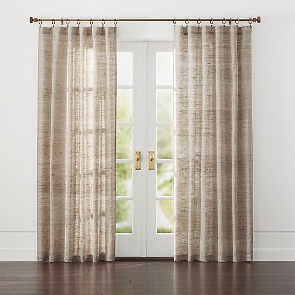 Hayden Silk Curtains Crate And Barrel For The Home In