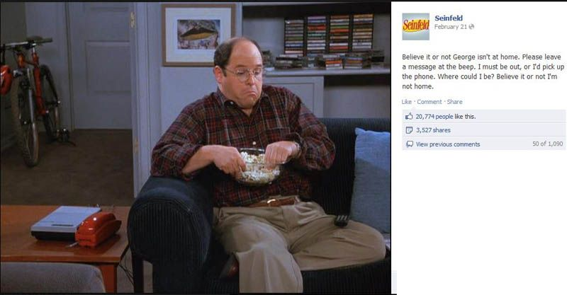 Believe It Or Not George Isn T At Home Immanerd Seinfeld