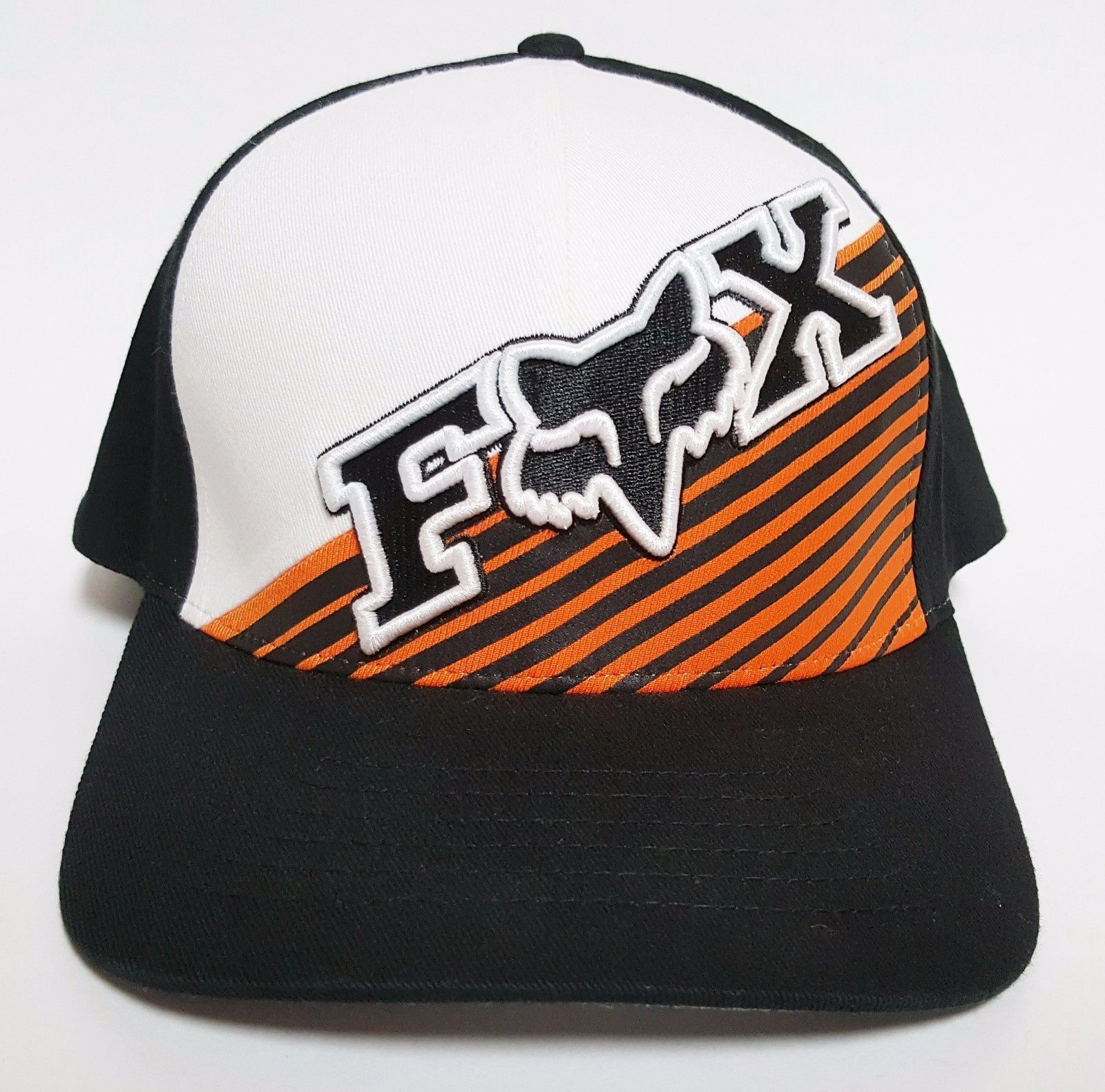 san francisco 5b43d 2e96f ... denmark fox racing flexfit hat counteractive black orange 30 cap mx bmx  surf moto 3d336 28dd7