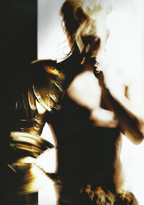 'a la vie, à la mode' nick knight for vogue paris, december 2006  I love modern armour...