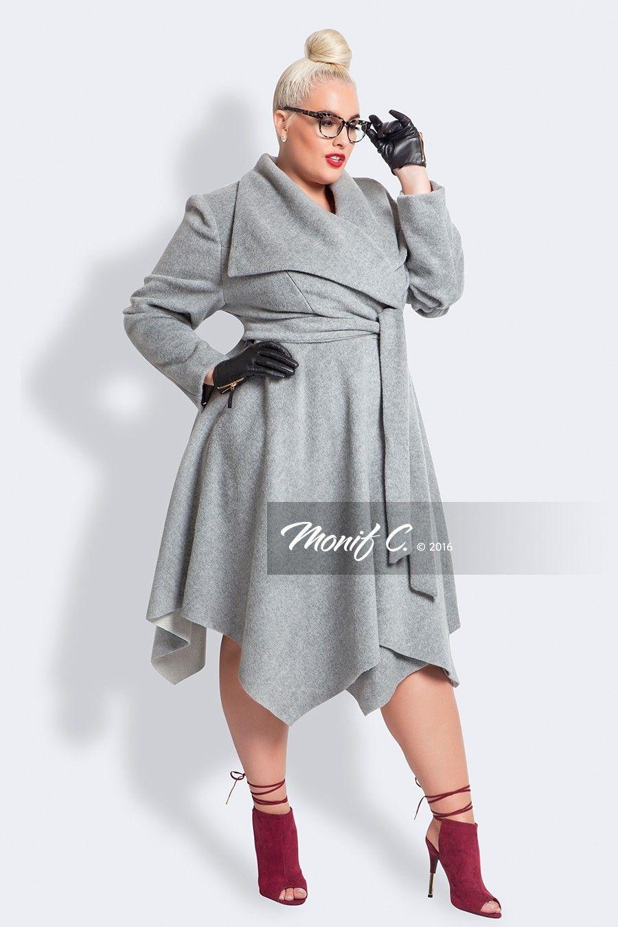 6151941fd78 Plus Size Luxury Wool   Cashmere Coat