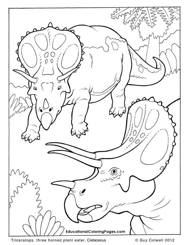Triceratops coloring pages, dinosaur colouring pages. these are ...