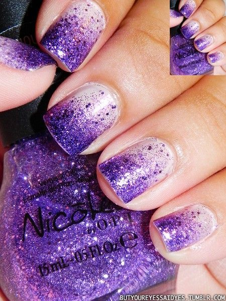 Glitter nail art designs have become a constant favorite. Almost every girl  loves glitter on their nails. Glitter nail designs can give that extra edge  to - This Is Pretty! But The Website Sucks! It Doesn't Tell You How To Do