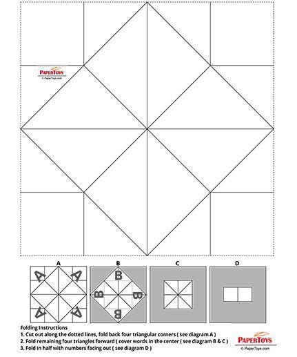 Free Printable Origami Cootie