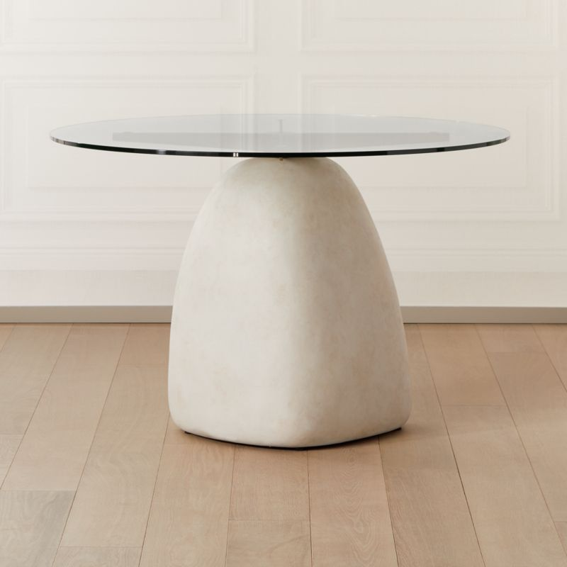 Stone Table Round 47 In 2020 Stone Dining Table Dining Room