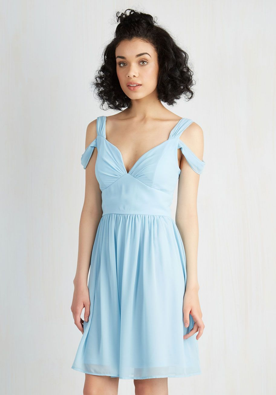 Dance Floor Date A-Line Dress in Black | ModCloth, Pale blue dresses ...