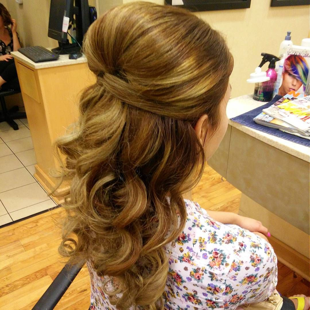Half Up Straight Hairstyles For Weddings: Half Up, Half Down With Lots Of Volume! #regis #salon