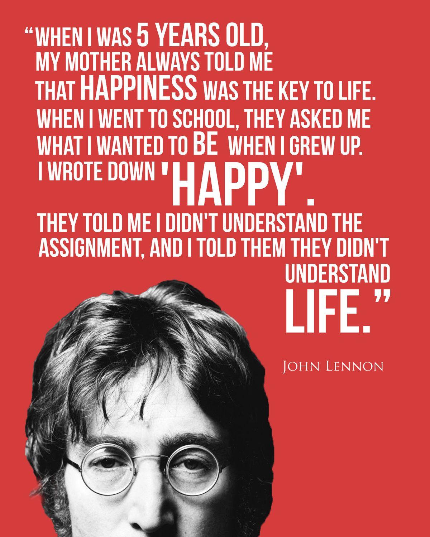 John Lennon Poster John Lennon John Lennon John Lennon Quotes