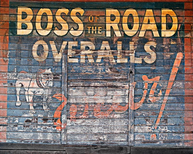 Boss of the Road Ghost Sign, Sacramento, CA