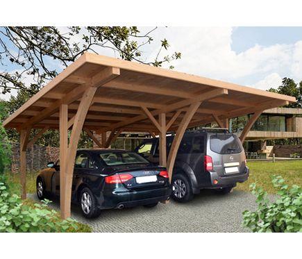 Cochera madera de 6 x 5 04 m grancey portones y fachadas - Porches leroy merlin ...