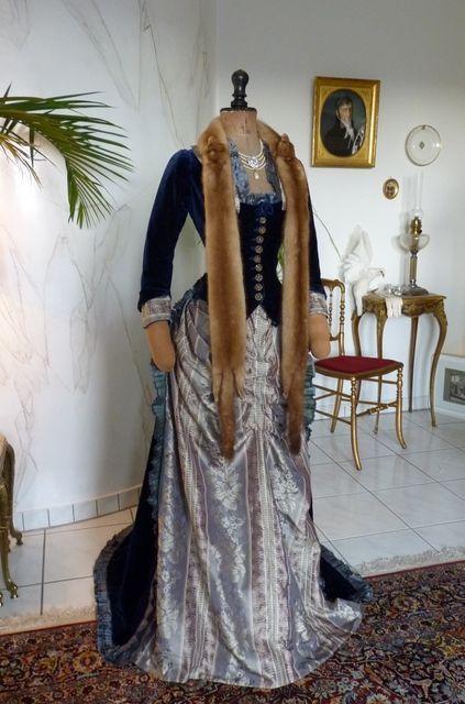 Exceptional Reception Bustle Dress, ca. 1878   1870 s Fashion in ... 626dfae37de2