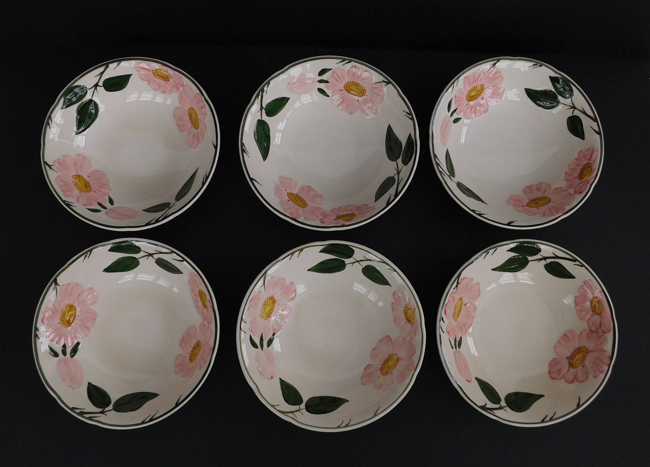 Vintage Set Of 6 Villeroy Boch 1748 Wild Rose Bowls Germany Roses Dinnerware Villeroy Boch Rose Bowl Bowl Set