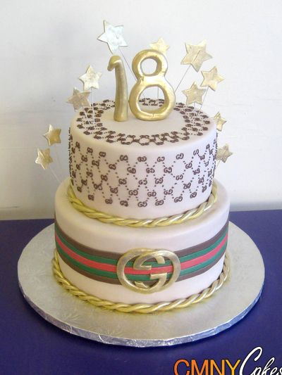 18th Gucci Birthday Cake Desserts Pinterest Birthday cakes