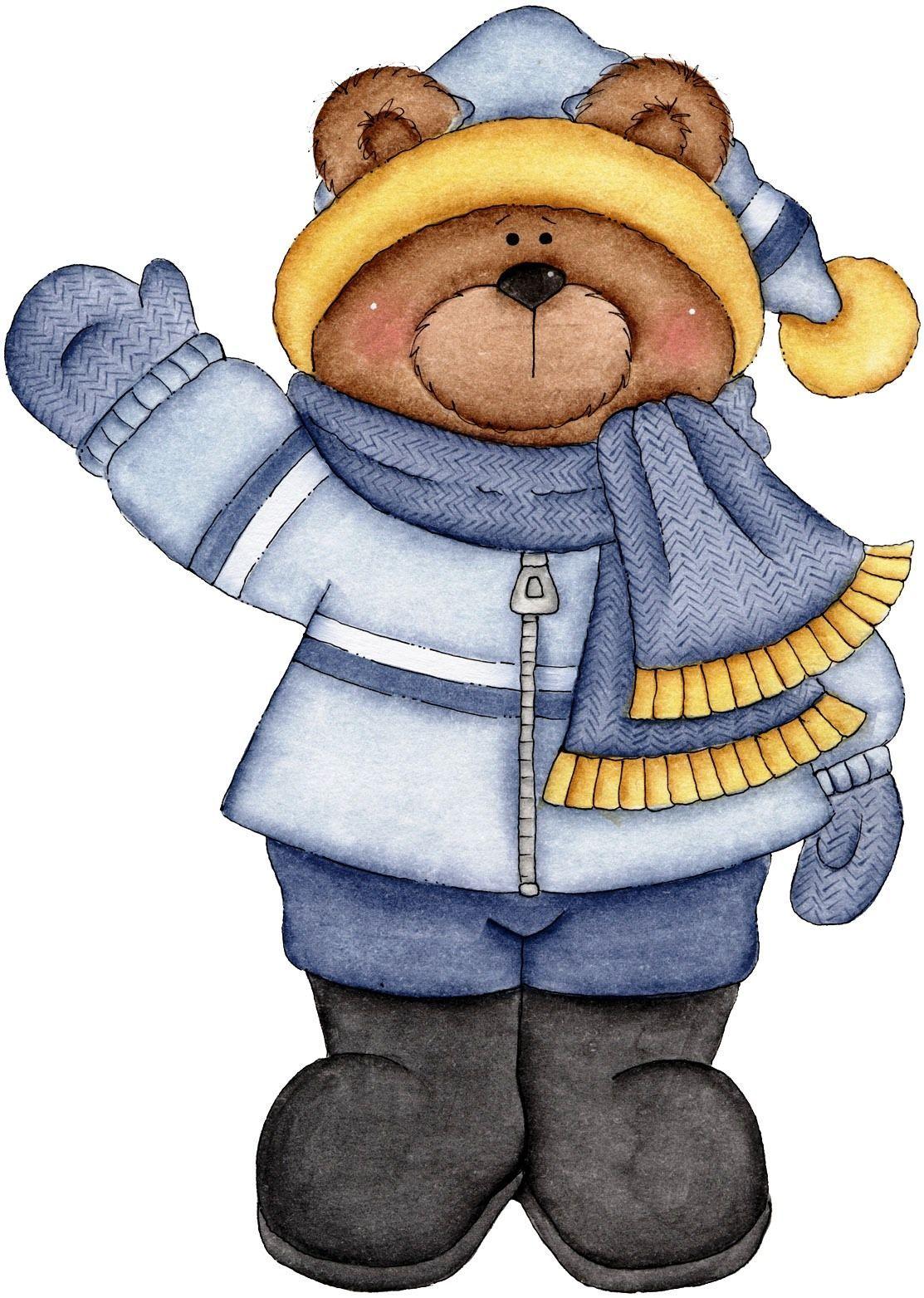 January boy   Bear illustration, Bear clipart, Clip art