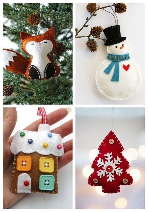 31 Cutest Christmas Felt Ornaments Felt Crafts Christmas Felt
