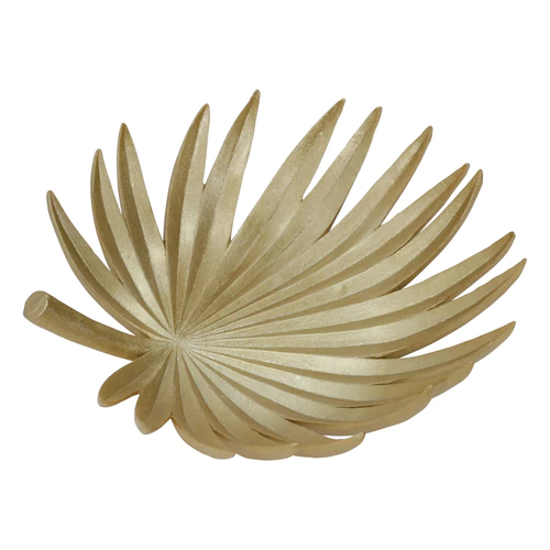 New Sagebrook Home Palm Leaf Gold Decorative Tray