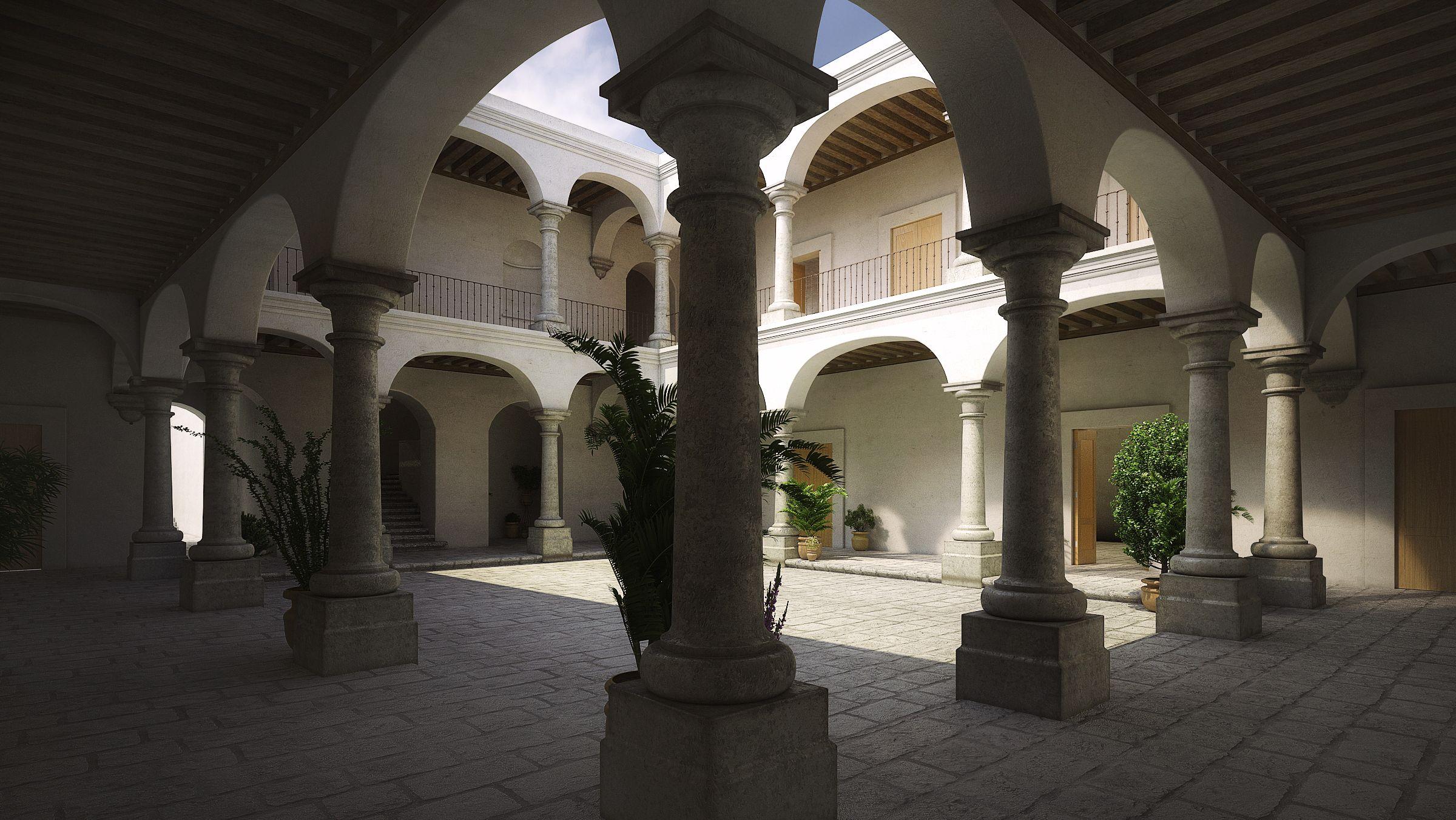 Casa de la Ciudad, Oaxaca. 3dsmax, vray, photoshop. Render by Kyle Beneventi.