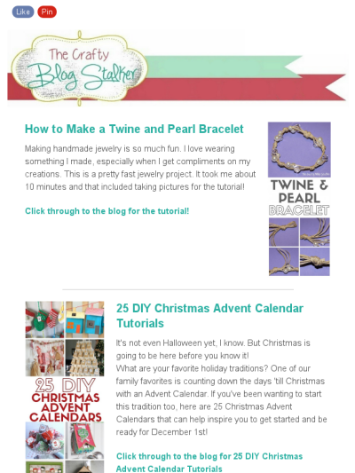 The Crafty Blog Stalker Newsletter  Pearl Bracelet Twine And Craft