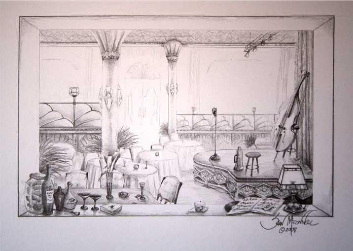 Concept Sketch Jazz Club Art Deco