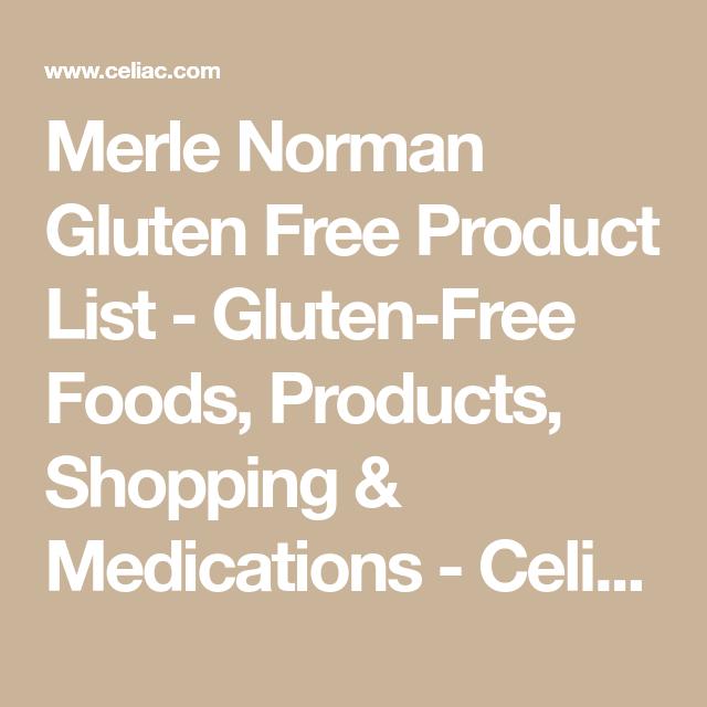 Merle Norman Gluten Free Product List - Gluten-Free Foods ...