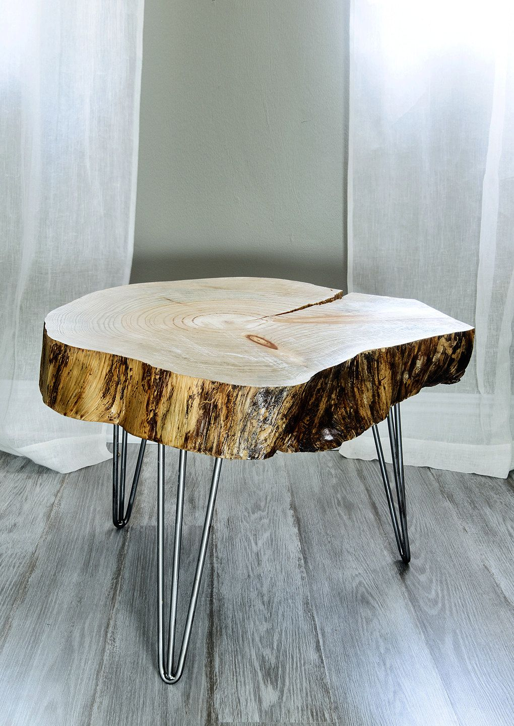 Design Tree Slice Table reclaimed canary island pine tree slice table end side coffee table
