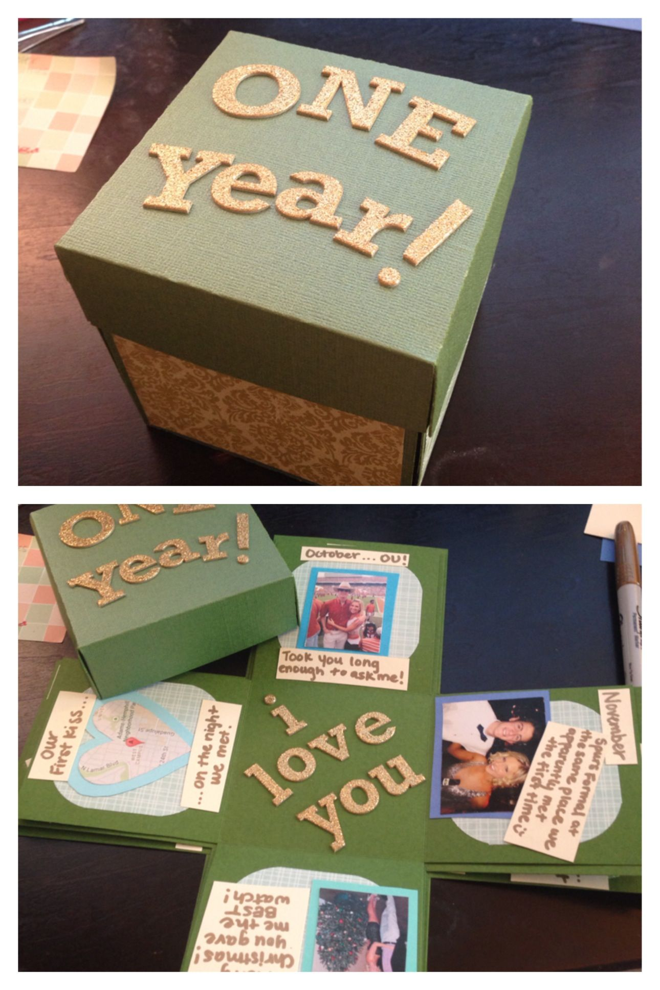 Anniversary Gifts on Pinterest Boyfriends 21st Birthday, Homemade ...