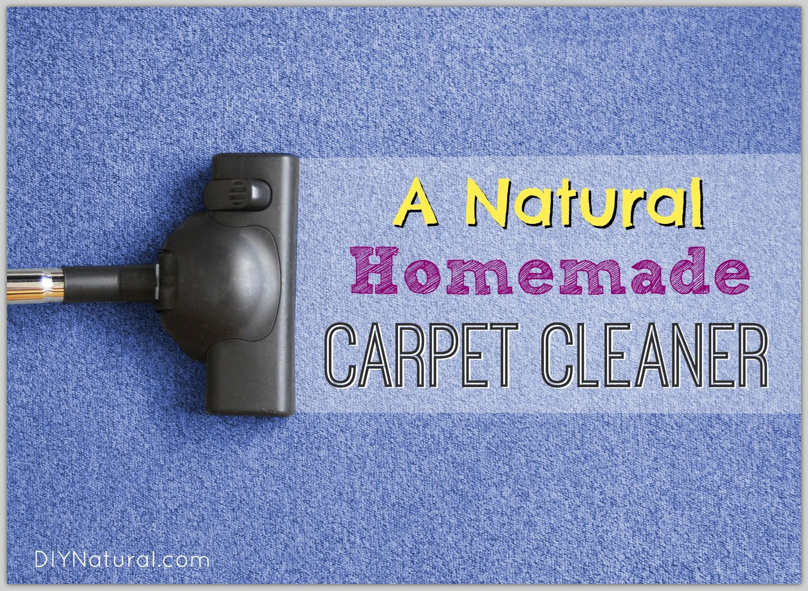 Natural Homemade Carpet Cleaner & Stain Remover