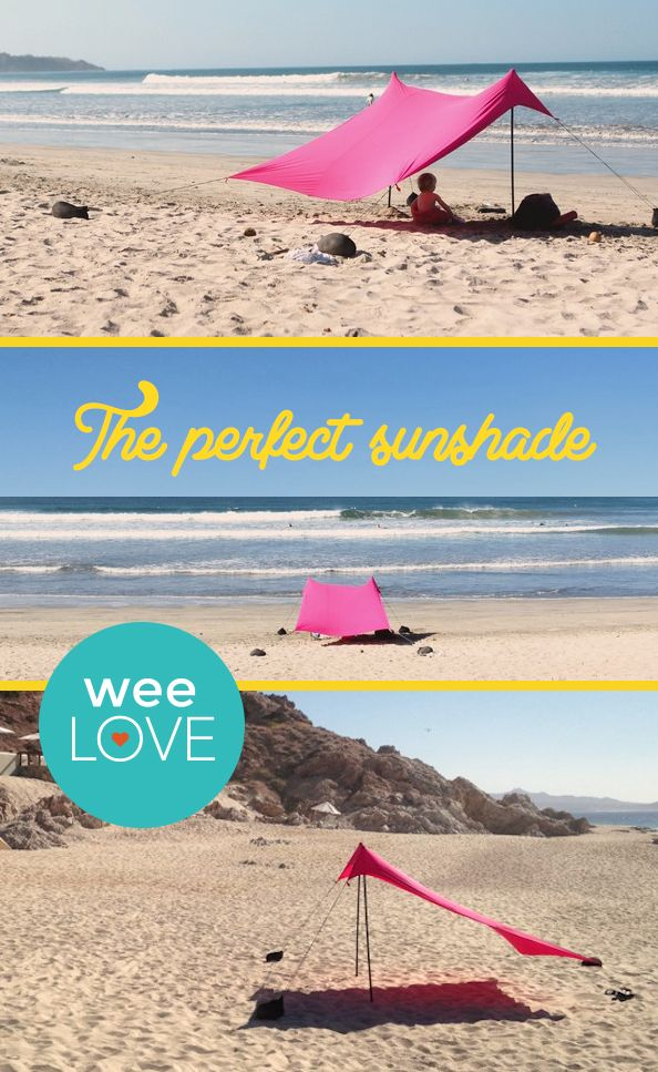 Hitting the beach on vacay but worried about sun protection? This sun tent folds small & weeLove: A Better Beach Tent | Suitcase Tents and Beach