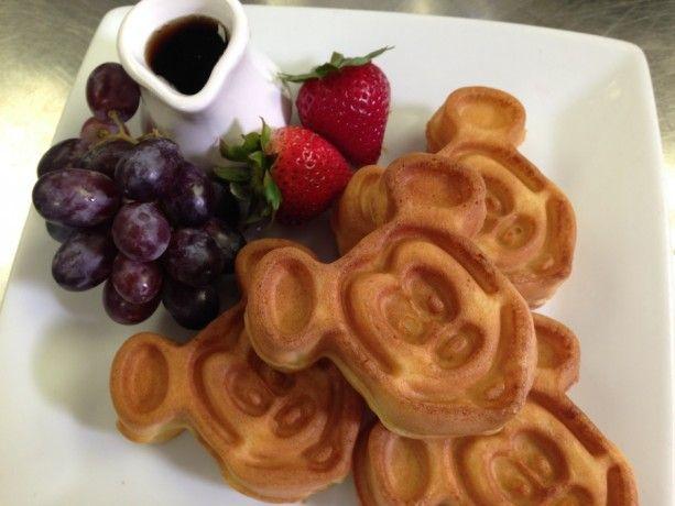 Mickey Mouse shaped Waffles at Walt Disney World