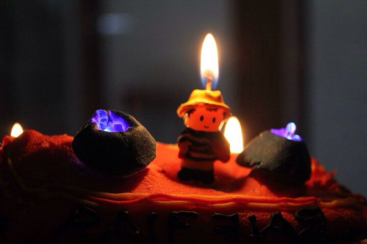 Fire Engine Cake With Fighter Candles