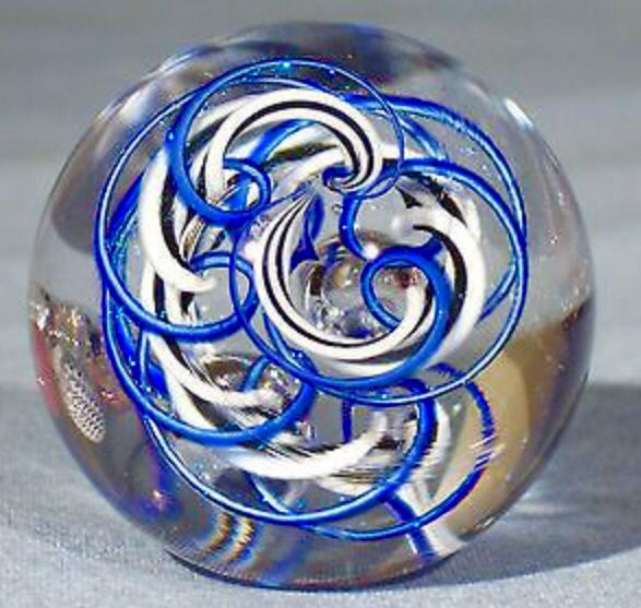 Blue Waves Marble Glass Art Glass Artwork Glass Marbles