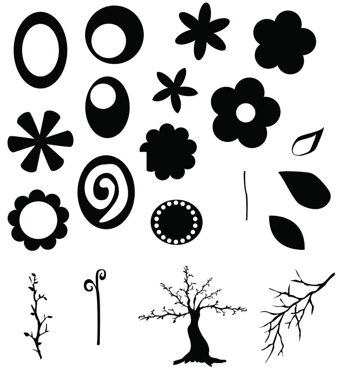 KLDezign les SVG Des fleurs Stencil patterns templates