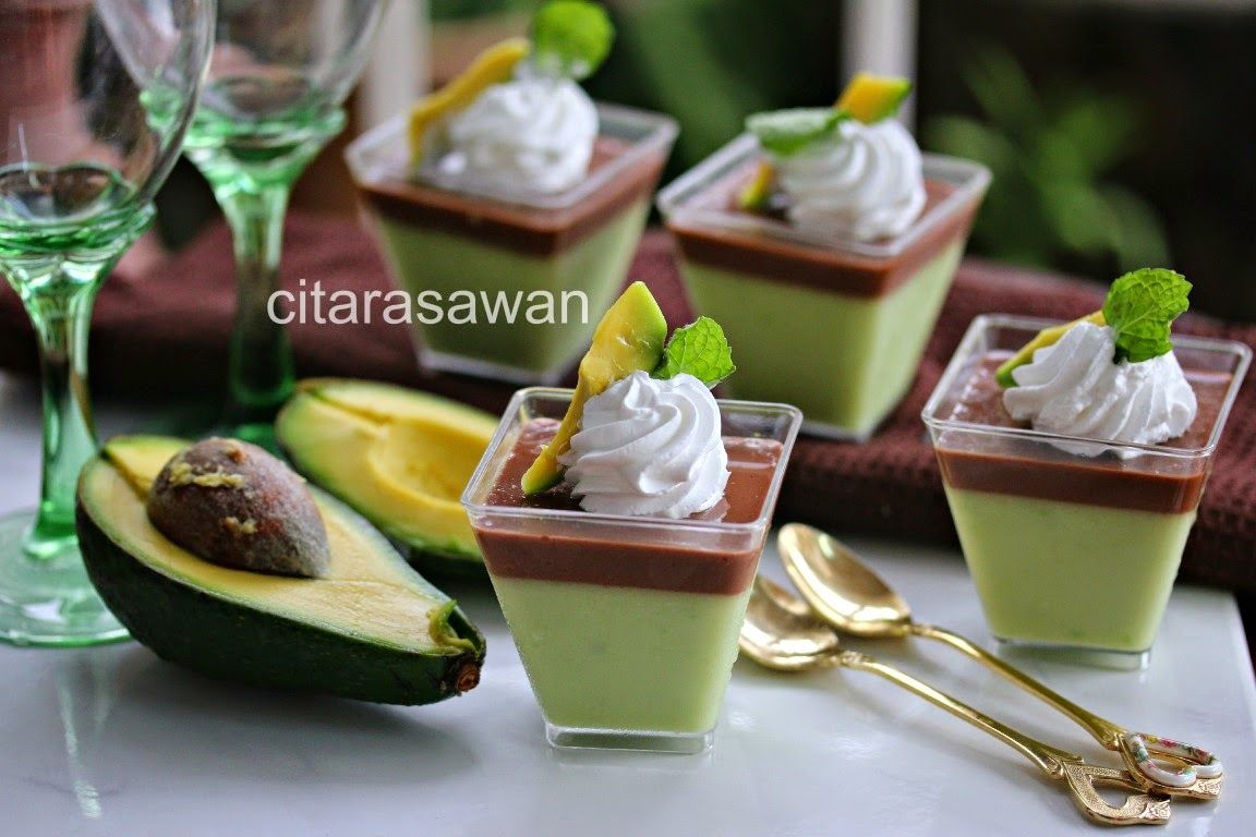 Puding Coklat Avocado Avocado Chocolate Pudding Resipi Citarasawan Puding Coklat Avocado Dessert Ide Makanan