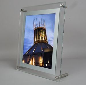 Crystalyte Led Frameless Backlit Panel Collage Frames Clear Acrylic Light Box