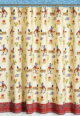 Kids Horse Shower Curtains | Cowboy Shower Curtain