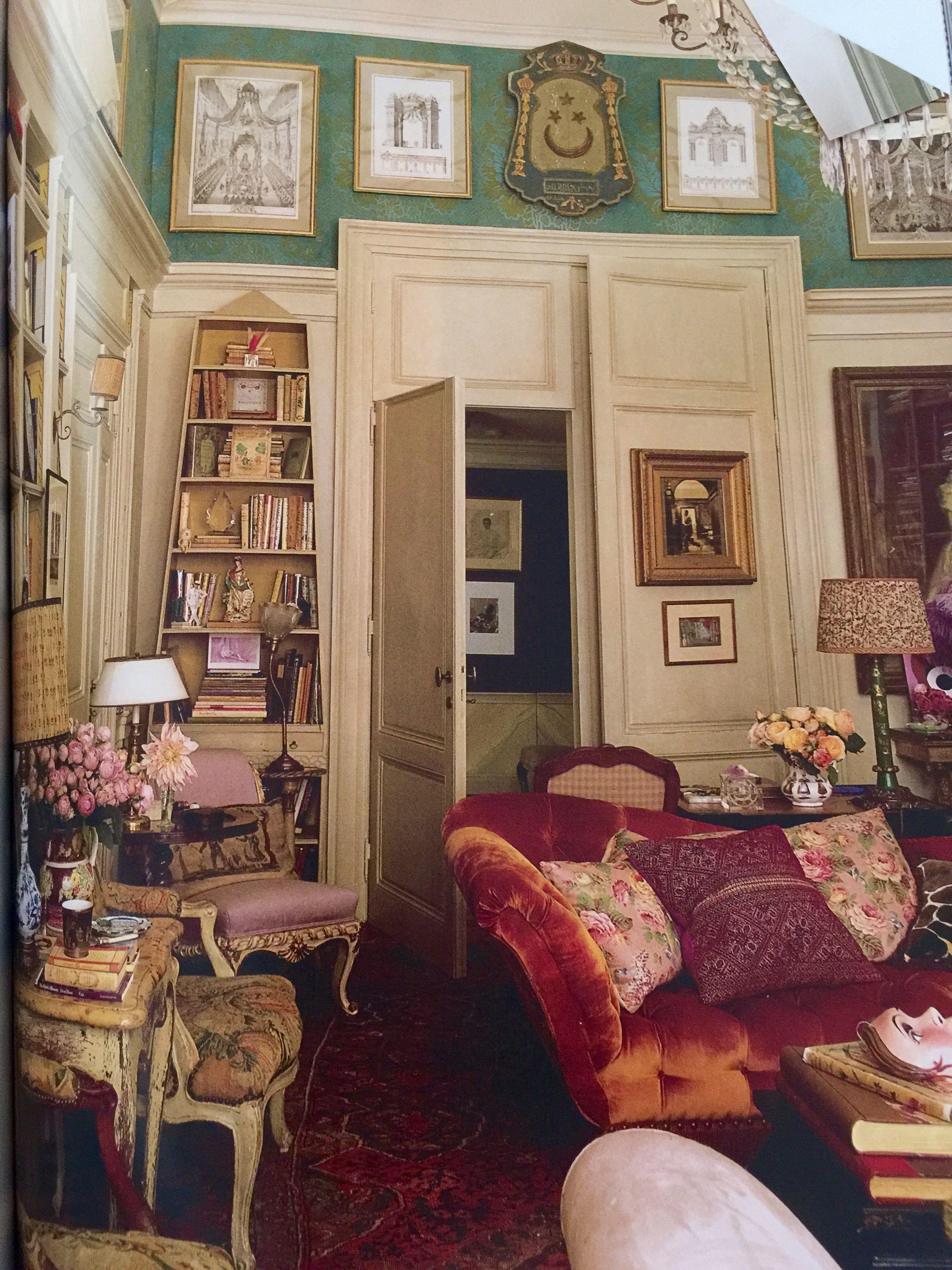 Color pattern texture interiors boho farmhouse for Interni case inglesi