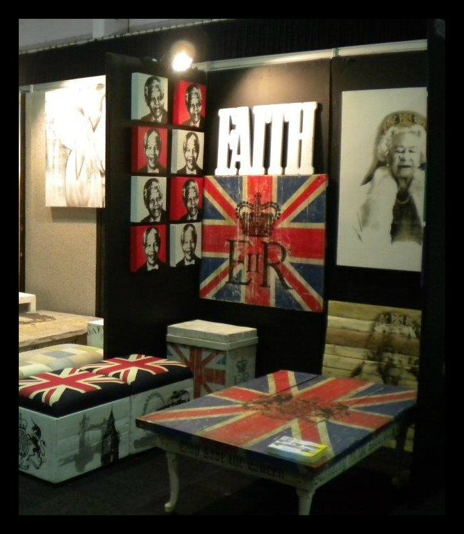 Union Jack Wall art / Ottoman / coffee table Available from Hullabaloo