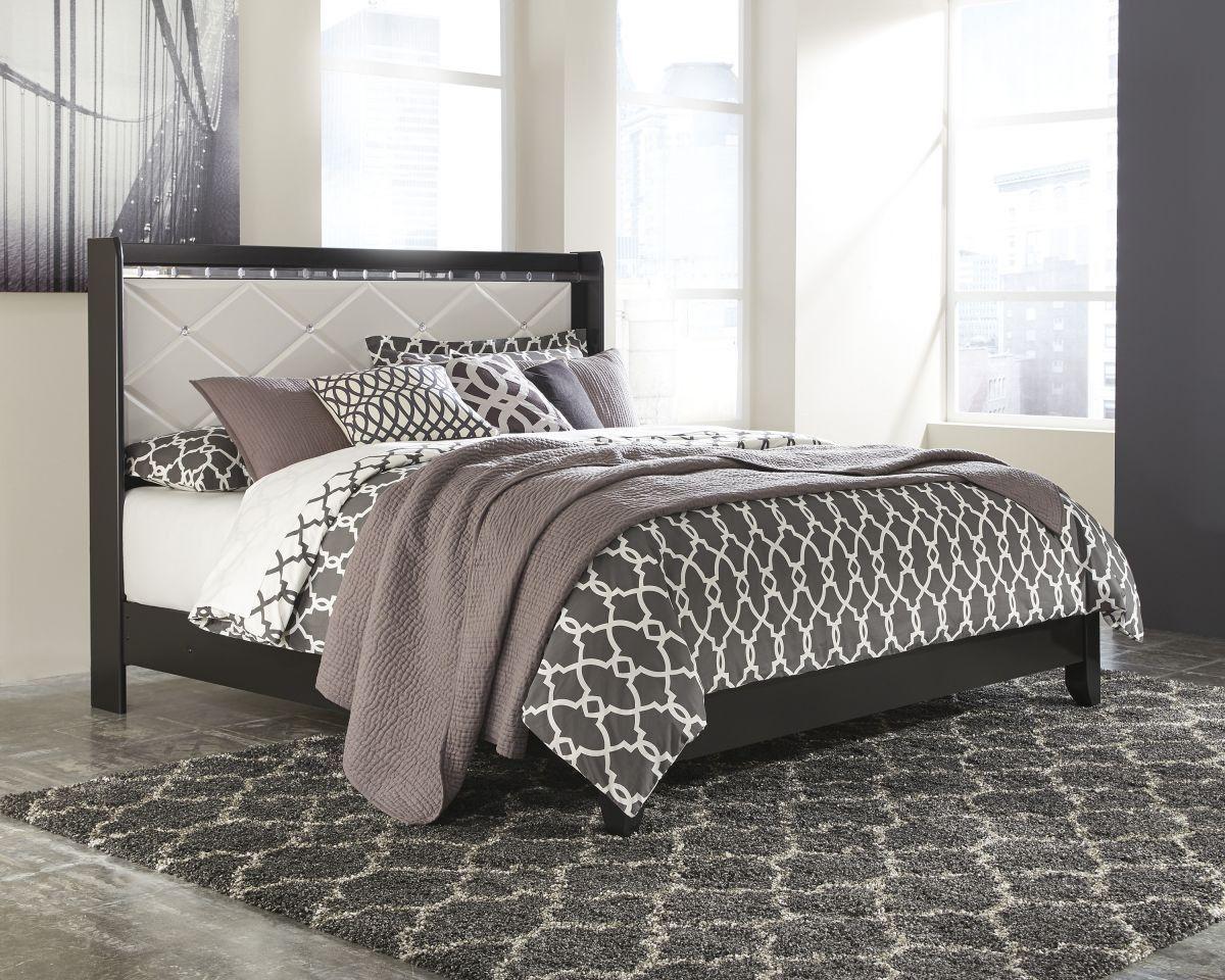 Fancee King Size Bed Black panel beds, Ashley furniture