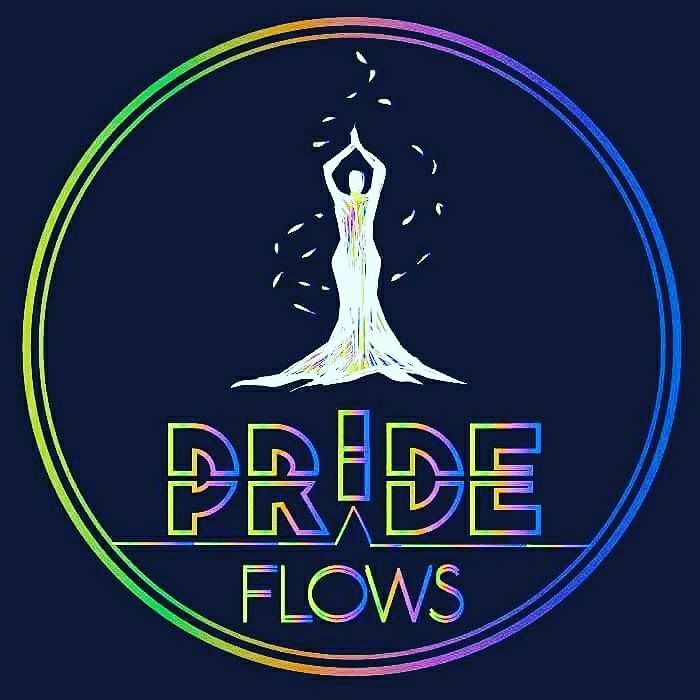 Here is another logo created by The Kartoonie for Pride Yoga Flows