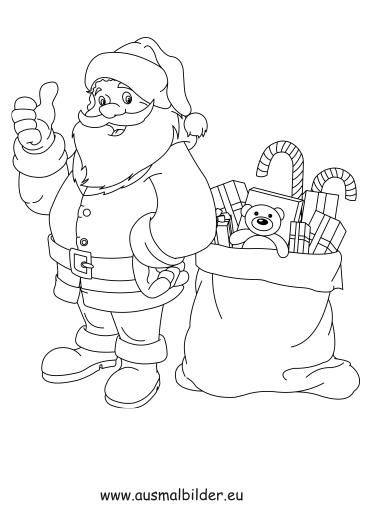 Ausmalbild Nikolaus Mit Geschenken Ausmalbilder Weihnachtsma