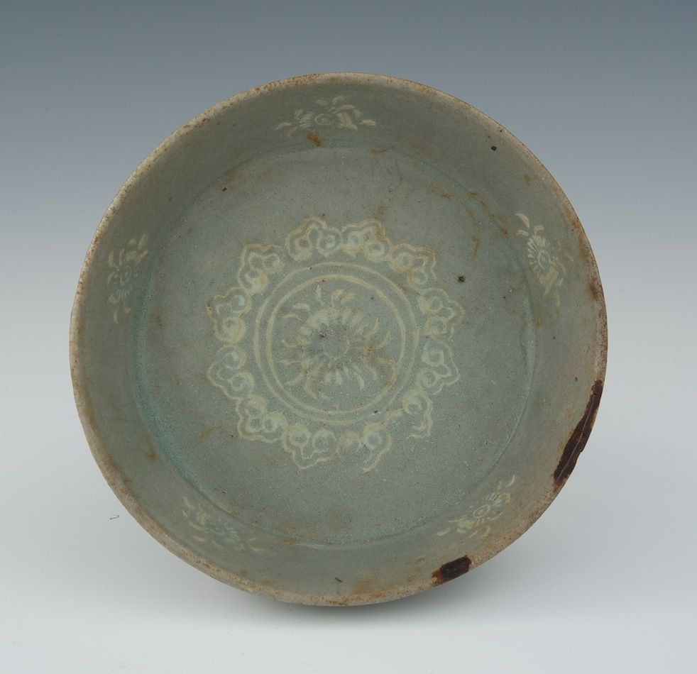 Small Koryo Style Celadon Inlaid Dish Shallow