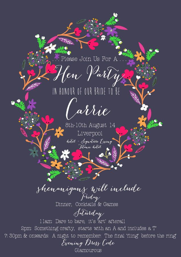 Personalised Vintage Floral Hen Party Invitations | wedding ...