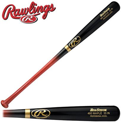 PRO Maple Wood 460M Baseball Bat has a pro cupped end for a