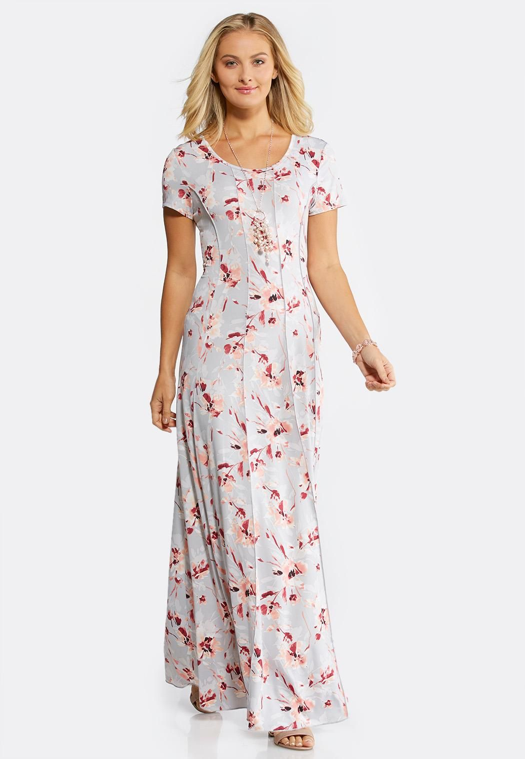 Seamed Floral Maxi Dress Junior/Misses Cato Fashions #catoconfident ...
