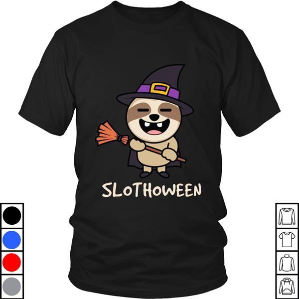 Teeecho Slothoween Funny Sloth Halloween Costume T-Shirt, Sweatshirt, Hoodie for Men & Women