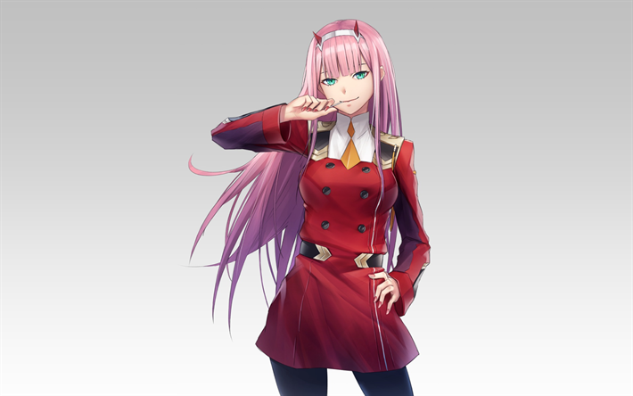Download wallpapers Darling In The Frankxx, 2018, Zero Two