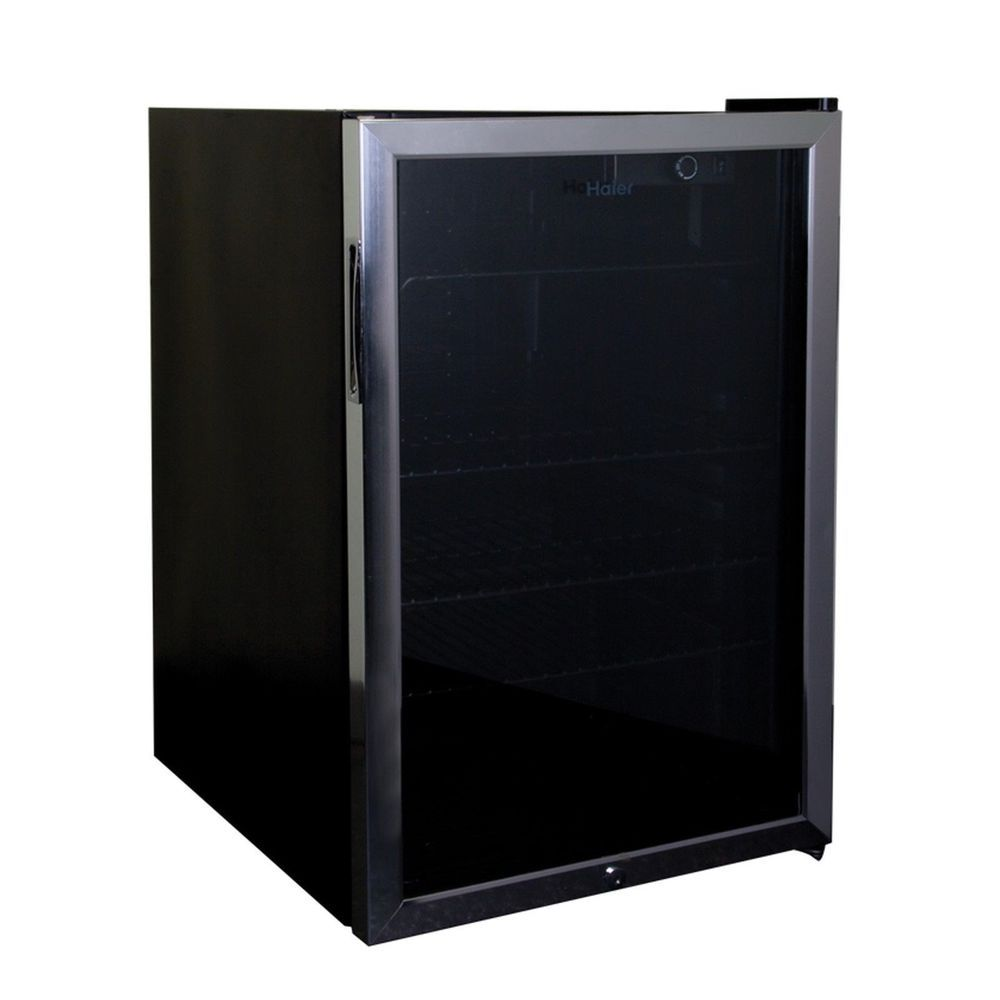 Haier 4 6 Cu Ft Black Compact Mini Refrigerator W Locking Glass Door