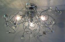Plafoniera Cristallo Swarovski : Lampadario plafoniera tipo swarovski sfere cristallo art mina